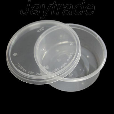 Satco Microwave Safe Round Containers Lids 2oz 500